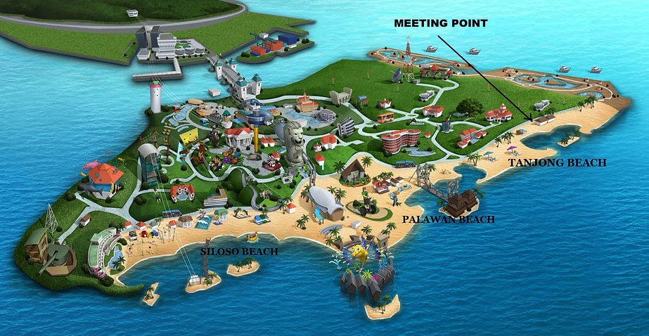 Where to find Celine@Sea at Tanjong Beach on Sentosa.