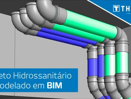 Projeto hidrossanitário modelado em BIM