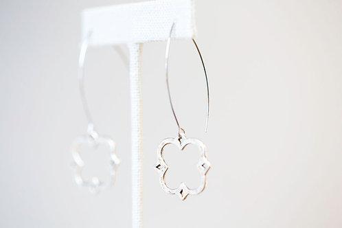 Caroline Earrings -Fancy Long Clover Earrings