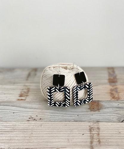 Black Chevron Earrings