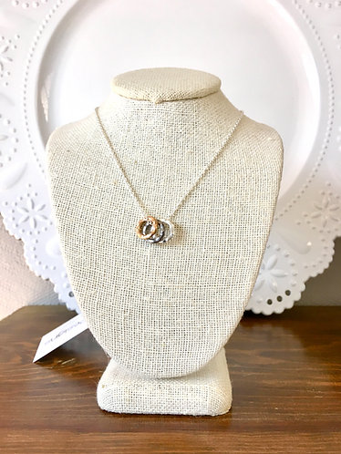 Mixed Metal Rings Necklace
