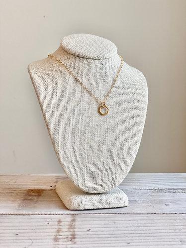 Delicate Vermeil Hexagon Necklace