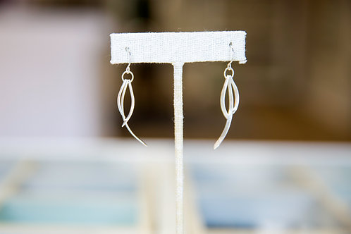 Sterling Curved Triple Bar Dangles