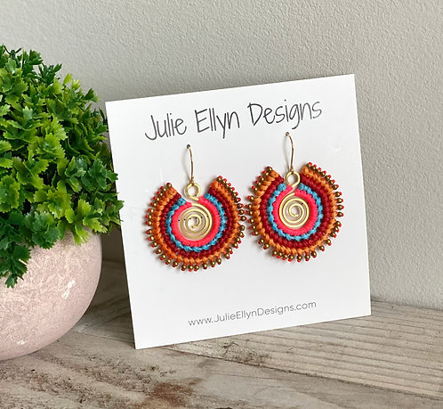 Embroidered Spirals - Colorful