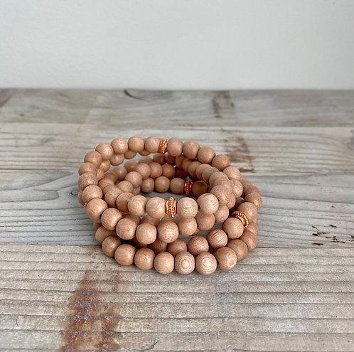 Wood Bead Stacking Stretch Bracelets