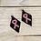 Thumbnail: Pink Ribbon Hand Beaded Earrings