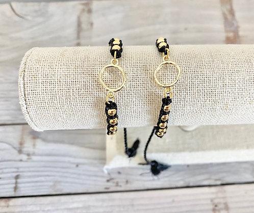 Black and Gold Slide Bracelet