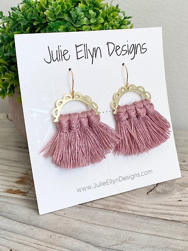 Summer Pink Tassel Earrings