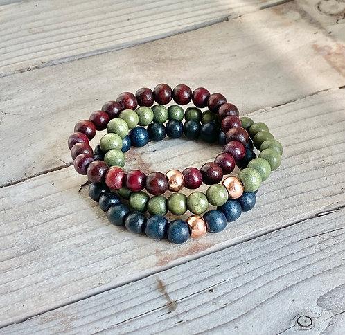 Fall Stacking Bracelets - Set 3