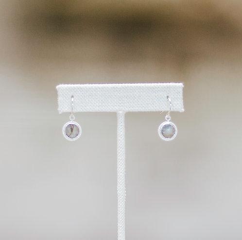 Dainty Labradorite Dangle Earrings
