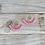 Thumbnail: Pink Tutu Hand Beaded Earrings