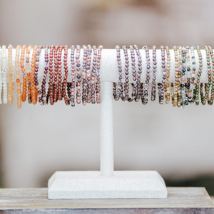Petite gemstone mini stacking bracelets are the perfect accessory! Light and airy and great for stacking with your other favorite bracelets. Wear one or all of your set!!! Mix and match!!