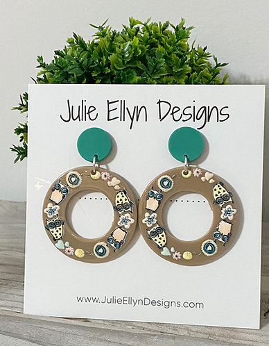 Spring Blooms and Birds Statement Earrings