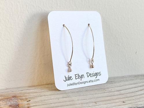 Sterling Silver Tiny Dew Drop Earrings