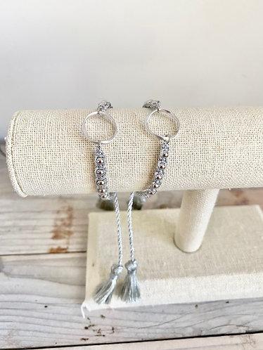 Silver Circle Slide Bracelet