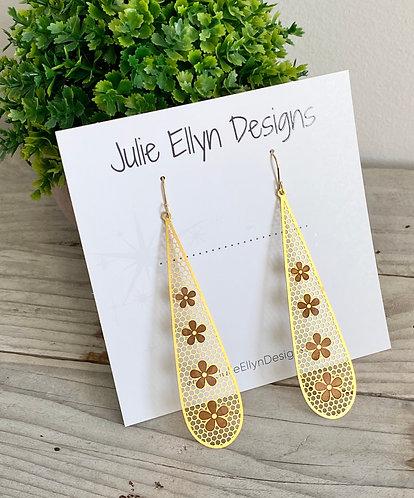 Floral Teardrop Statement Earrings