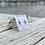 Thumbnail: Light Aqua Sea Glass Ring Earrings