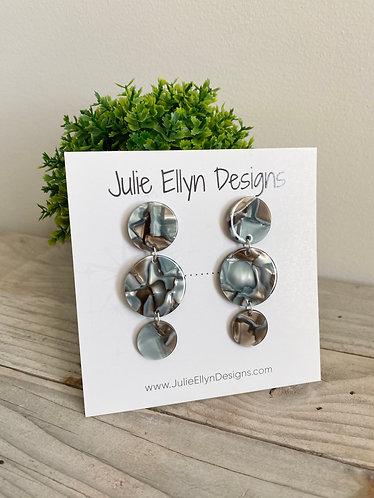 Acrylic Circle Stud Earrings
