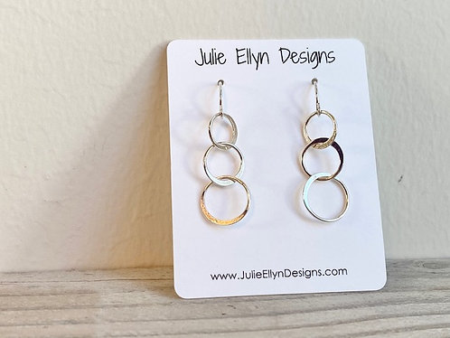 Intertwined Circle Sterling Silver Earrings