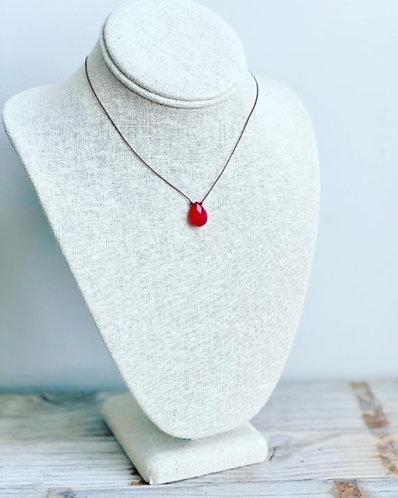 Gemstone Cord Necklace