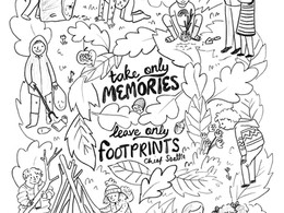 Take only Footprints - Colouring in sheet