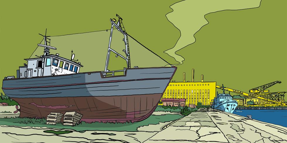 Zeichnung Usedom