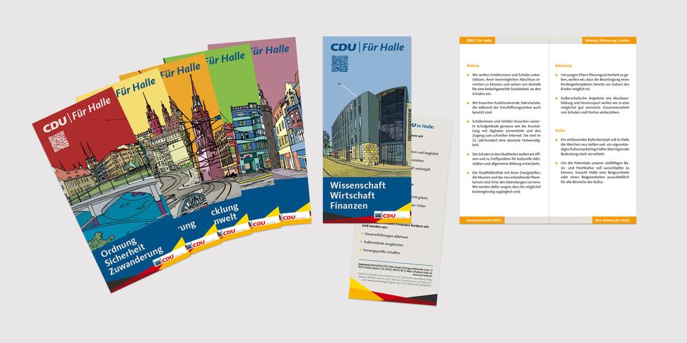 Faltblatt CDU Halle