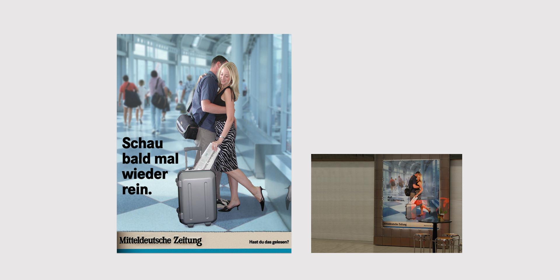 Plakat Mitteldeutsche Zeitung