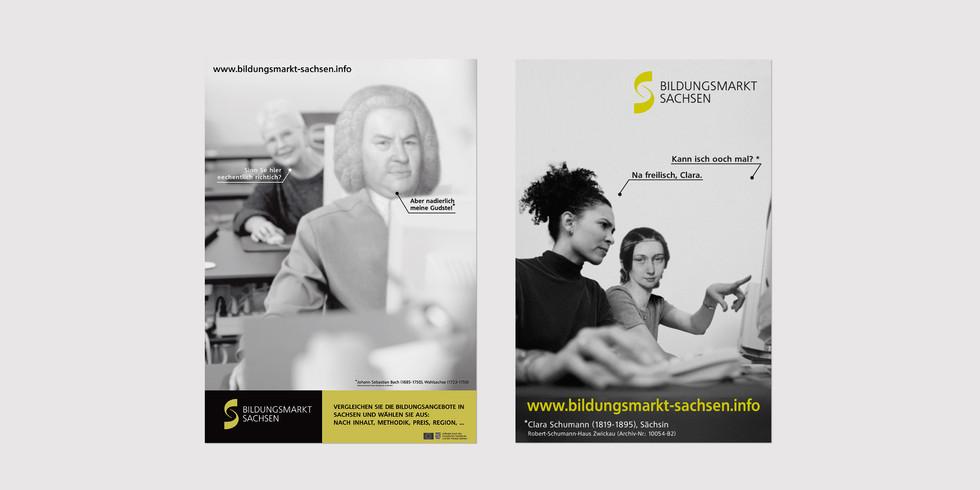 Plakat Bildungsmarkt Sachsen