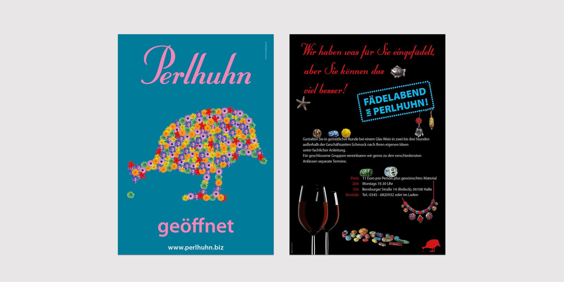Plakat Perlhuhn