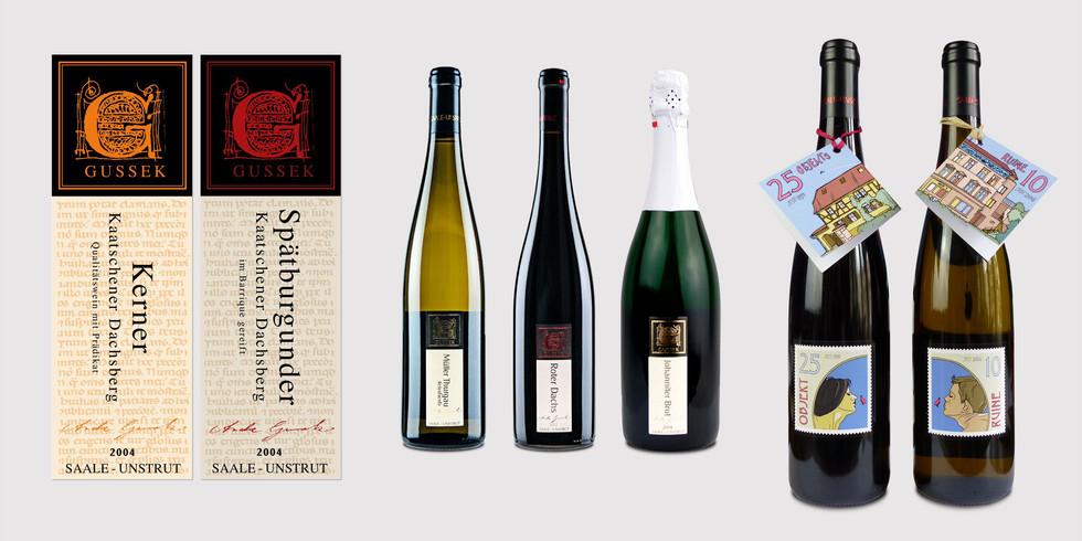 Etiketten Wein