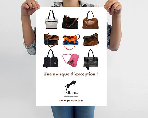 Affichage Gallucha - Dispositif salon