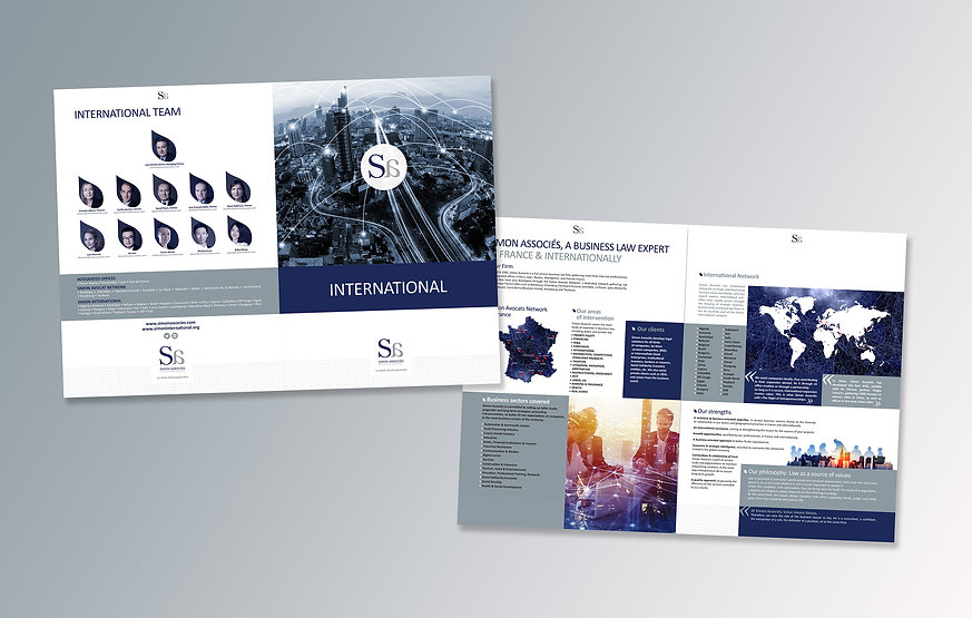 Brochure international pour Simon Associés