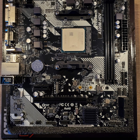 Motherboard with CPU