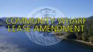 Community Wharf Lease Amendment