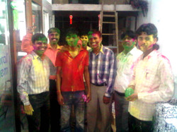 Look at our Holi faces!