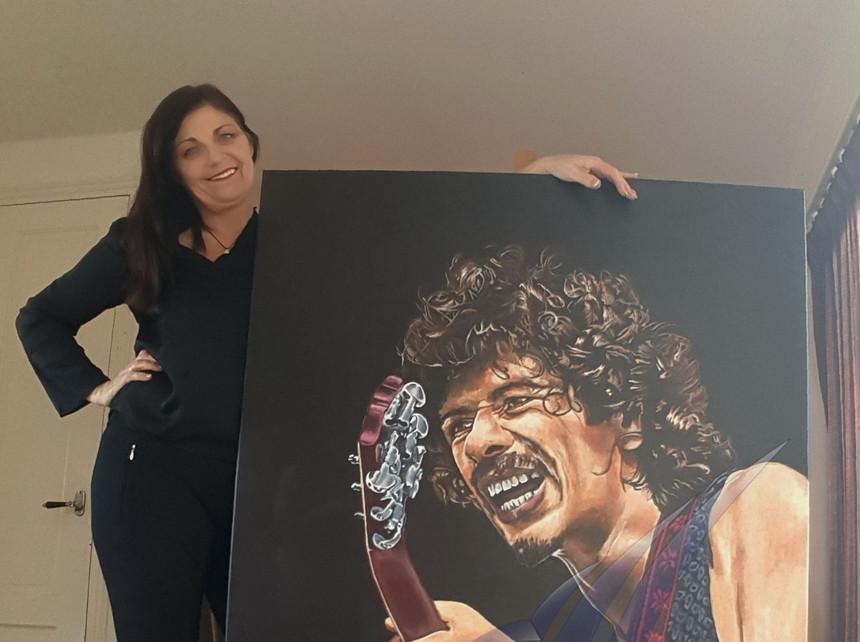 Carlos Santana met Mariët