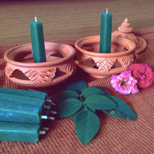 เทียนพลังแสงออร่าสีเขียว-จักระที่ 4(Heart Chakra)-Antik's aura candles