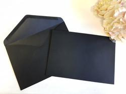 Black C5 envelopes Sydney Australia Wedding seal Euro Flap V