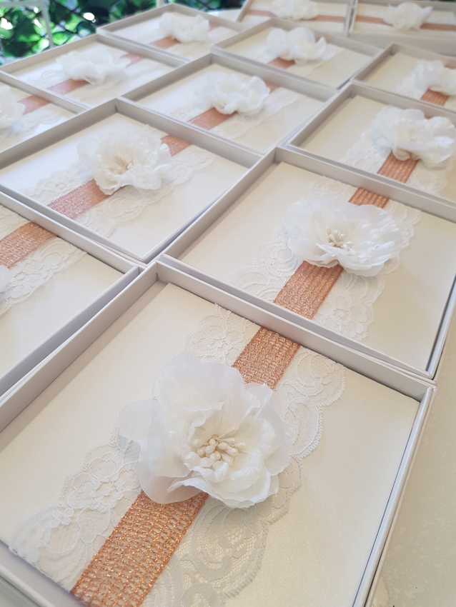 Beautiful Invitations Sydney Australia Custom Handmade Floral rose gold white lace.jpg