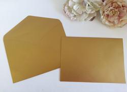 Metallic Antique Brilliant Old Gold C5 Envelopes Sydney Australia