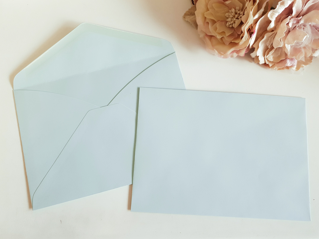 Blue C5 envelopes Sydney Australia Baby Blue Pastel Blue Sky Ocean Sea