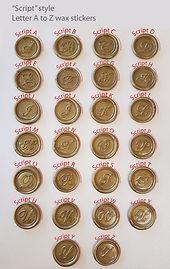 Script Letter A-Z wax stickers Sydney Au