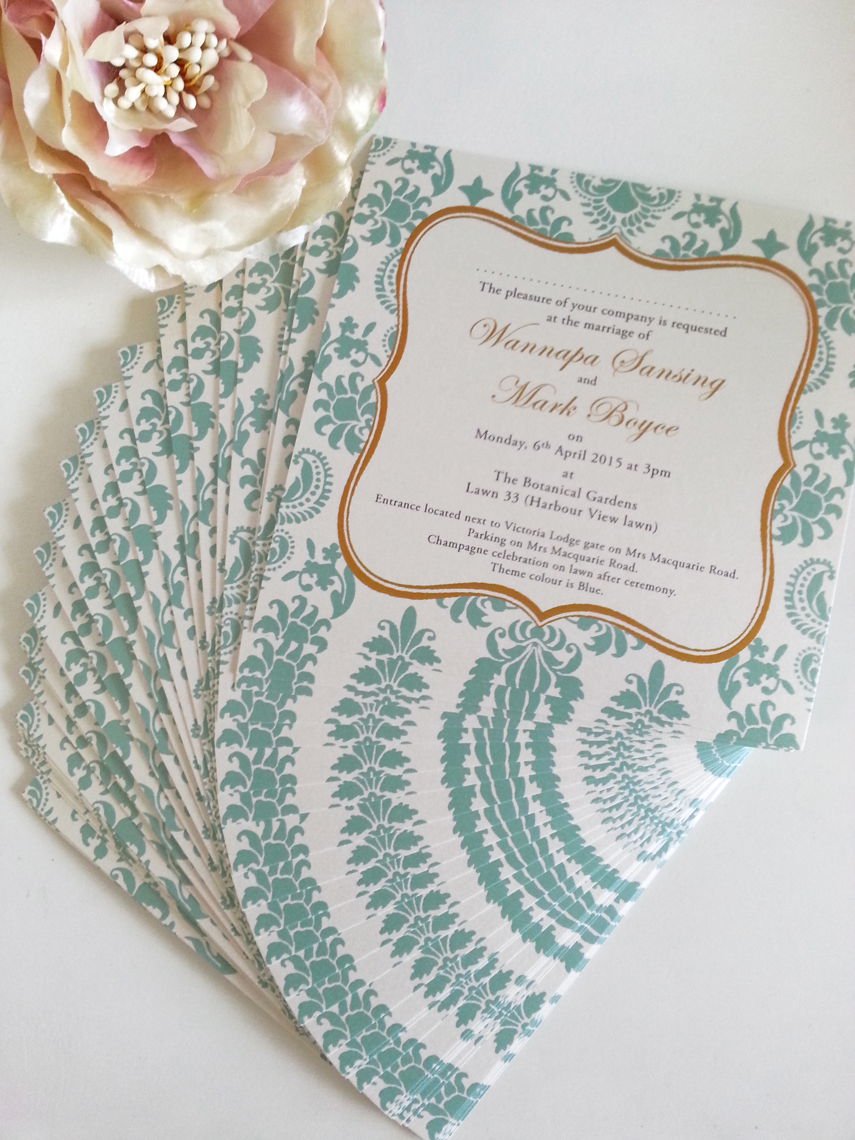 damask tiffany blue gold wedding invitation sydney.jpg