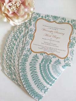 damask tiffany blue gold wedding invitation sydney.jpg