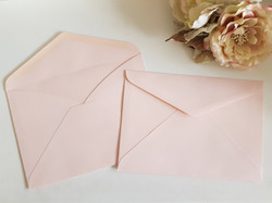 Matt smooth Pastel Pink C5 envelopes Sydney Australia Wedding