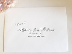 Wedding envelope addressing printing Syd