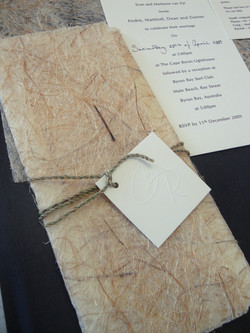 Jane - Rustic country wedding invite