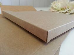 Kraft Recycle Hessian Square 16cm envelope box one piece sydney Australia 3