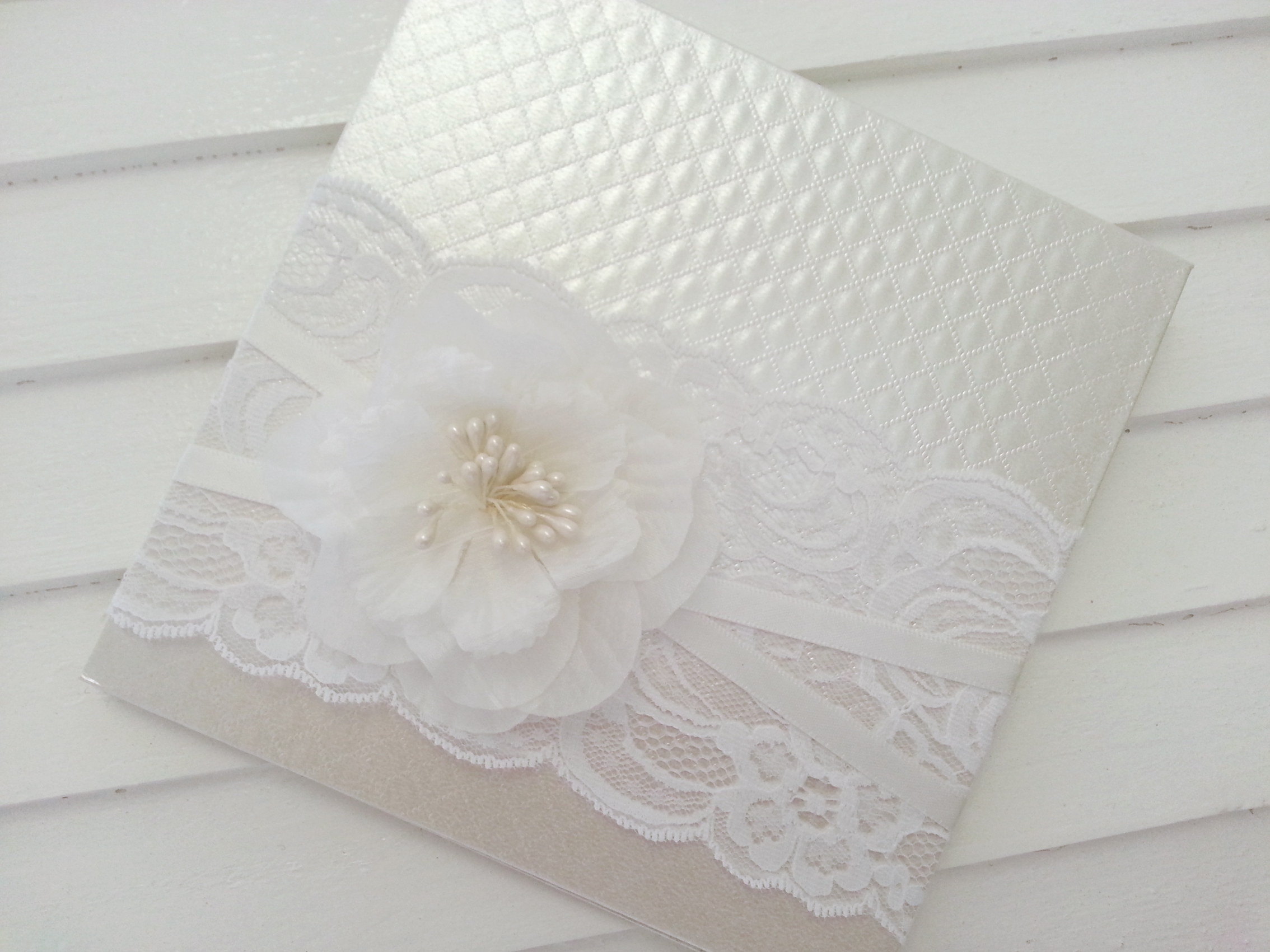 Michelle - embossed floral invite
